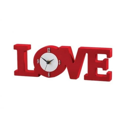 Country Artists Love Clock Red