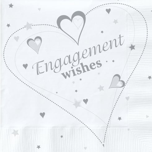 Creative Party Engagement Wishes Party Napkins 2 Ply