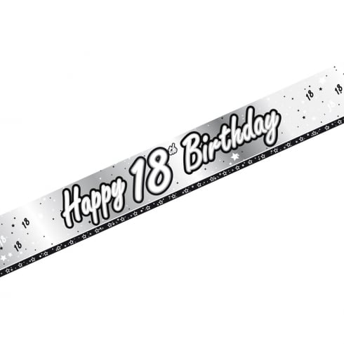 Creative Party Happy 18th Birthday Banner 9ft
