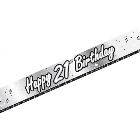 Creative Party Happy 21st Birthday Banner 9ft