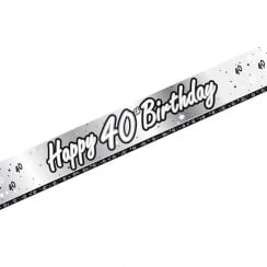 Creative Party Happy 40th Birthday Banner 9ft