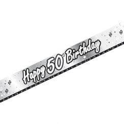 Creative Party Happy 50th Birthday Banner 9ft