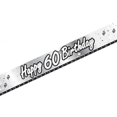 Creative Party Happy 60th Birthday Banner 9ft