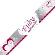 Creative Party Ruby 40th Anniversary Banner 9ft M198
