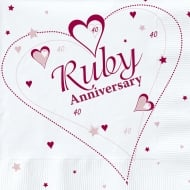 Creative Party Ruby (40th) Anniversary Party Napkins 2 Ply