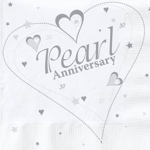 Creative Party Creative Party Silver (25th) Anniversary Party Napkins 2 Ply