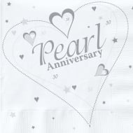 Creative Party Silver (25th) Anniversary Party Napkins 2 Ply