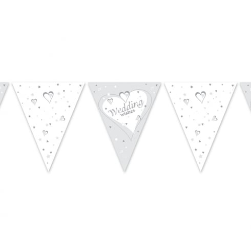 Creative Party Wedding Wishes Flag Banner Bunting 12ft