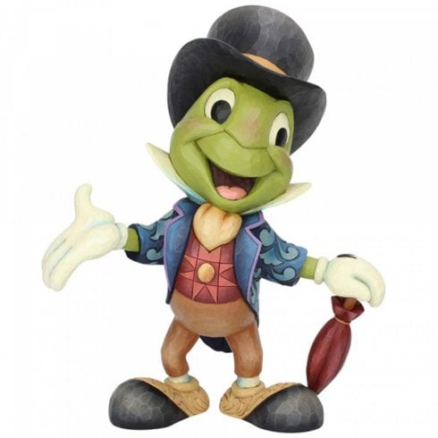 Disney Traditions Crickets the Name Jiminy Cricket Statement Figurine