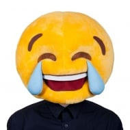 Cry Laughing Head Plush Mask