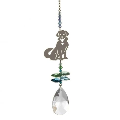 Wild Things Gifts Crystal Fantasy Puppy Green