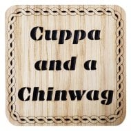 Cuppa And A Chinwag Square Coaster