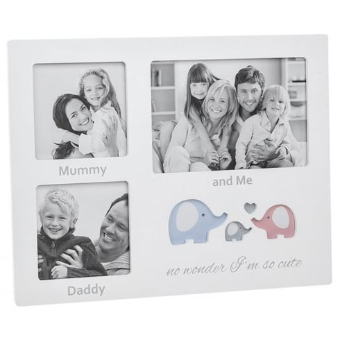 Shudehill Giftware Cut Out Ellie Mummy Daddy and Me 3 Picture Photo Frame