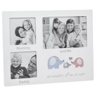 Cut Out Ellie Mummy Daddy and Me 3 Picture Photo Frame