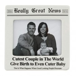 Cutest Couple Ever Cuter Baby 4 x 5 Photo Frame