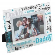 Daddy 3D Words 6 x 4 Glass Photo Frame