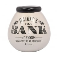 Daddys Bank of Dosh Ceramic Money Pot