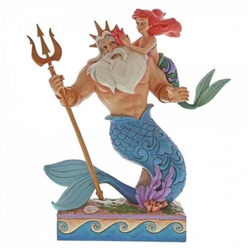 Disney Traditions Daddys Little Princess Ariel & Triton Figurine