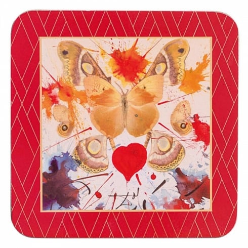 Enesco Dali Butterfly Coasters (set of 4)