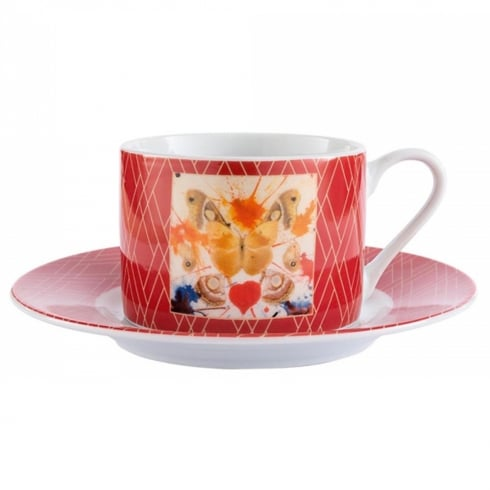 Enesco Dali Butterfly Cup & Saucer
