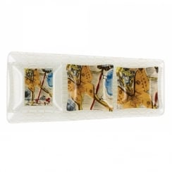 Dali Extravaganza Glass Plate, (Set of 4)