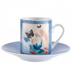 Dali Kneeling Woman Espresso Cup & Saucer (Set Of 2)