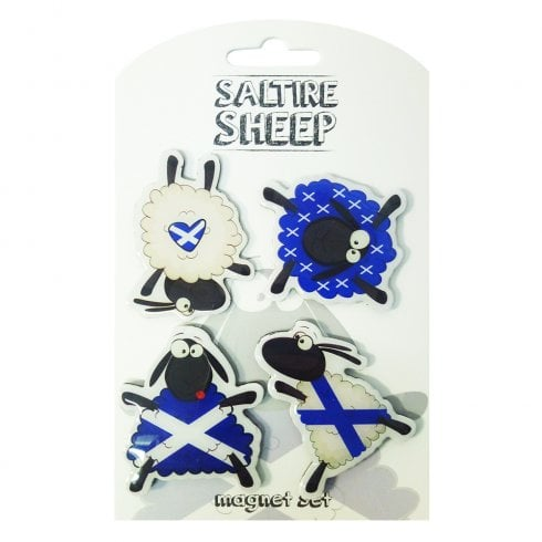 Eurostick Dancing Saltire Sheep 4 Pack Magnet Set