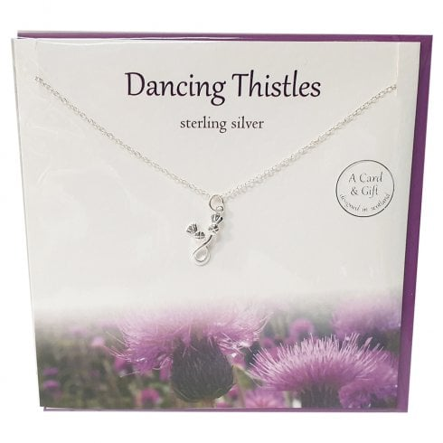 The Silver Studio Dancing Thistles Pendant