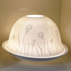 Dandelion Tealight Candle Shade & Tray