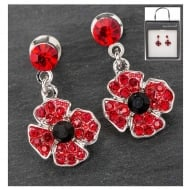 Dangly Poppy Earrings