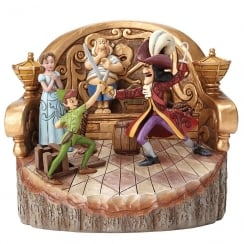 Daring Duel Carved By Heart Peter Pan Figurine