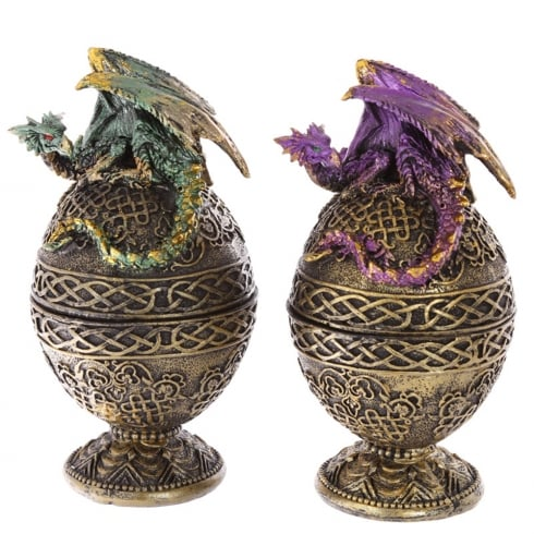 Puckator Dark Legends Celtic Dragon Egg Trinket Box