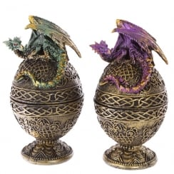 Dark Legends Celtic Dragon Egg Trinket Box