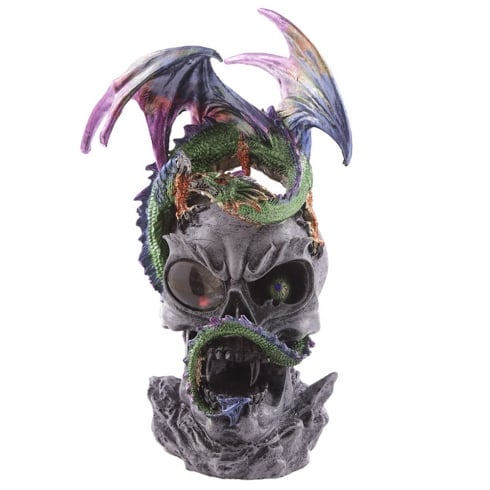 Puckator Dark Legends Dragon LED Crystal Skull Figurine