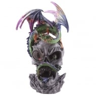 Dark Legends Dragon LED Crystal Skull Figurine