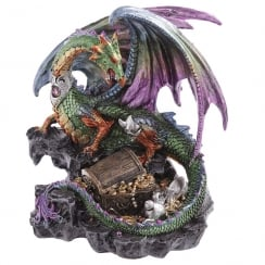 Dark Legends Treasure Dragon Figurine