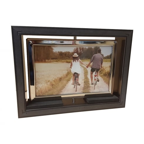 Shudehill Giftware Dark Silver Spinner Reversible 6 x 4 Photo Frame