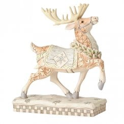 Dashing to Deliver White Woodland Reindeer