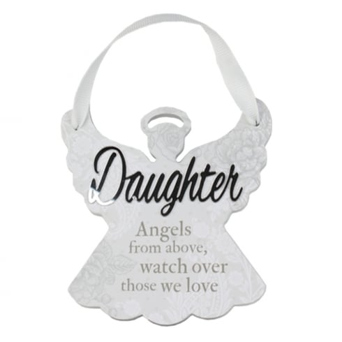 Reflective Words Daughter Angel Hanger