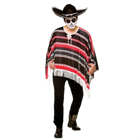 Wicked Costumes Day Of The Dead Bandit Poncho