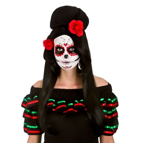 Wicked Costumes Day Of The Dead Darling Wig