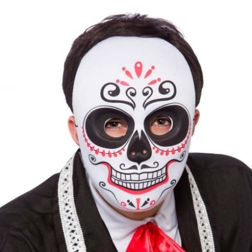 Wicked Costumes Day Of The Dead Mask Full Face Black/Red