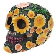 Day Of The Dead Skull Head With Daisy Floral Motif