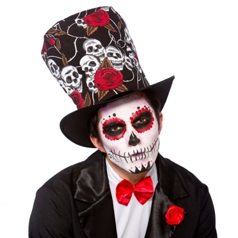 Wicked Costumes Day of the Dead Top Hat