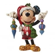 Deck The Halls Mickey Mouse Figurine