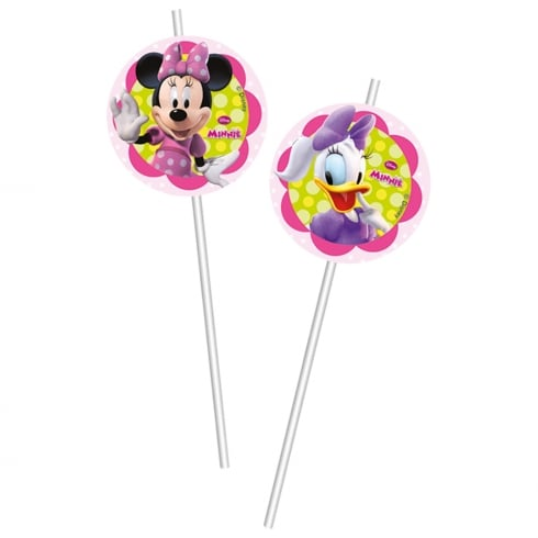Decorata Party 6 Pack of Drinking Straws Disney Minnie Mouse