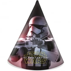 Decorata Party 6 Pack of Party Hats Star Wars The Force Awakens