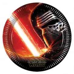 Decorata Party 8 Pack of Paper Plates Star Wars The Force Awakens