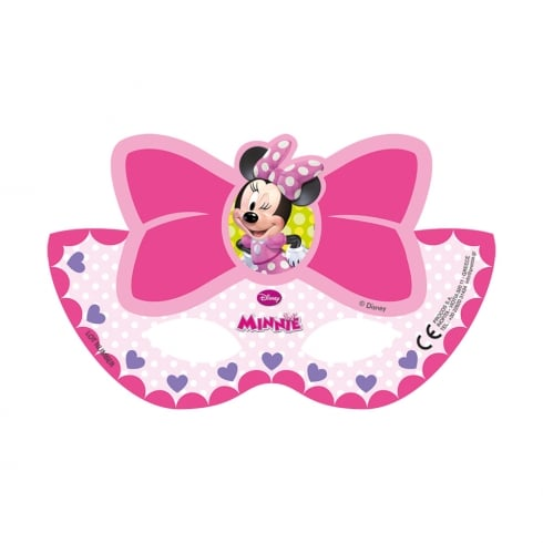 Decorata Party Disney Minnie Mouse 6 Pack of Paper Masks