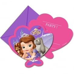 Decorata Party Disney Sofia the First Invitations & Envelopes 6 Pack